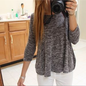 Forever 21 jersey gray quarter sleeve size S
